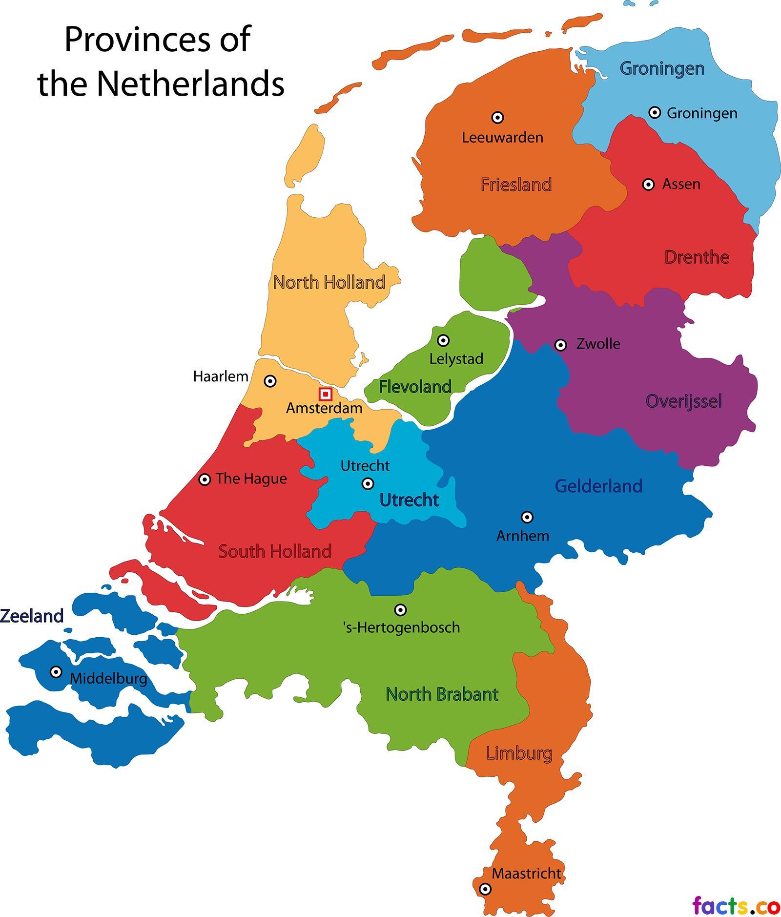 holanda mapa europa Países baixos estados mapa   Holanda estados mapa (Europa  holanda mapa europa
